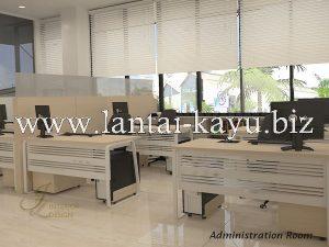 Desain interior kantor ruang karyawan administrasi