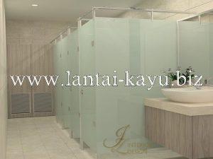 Desain interior kantor area kamar mandi