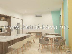 Desain interior kantor area dapur / pantry